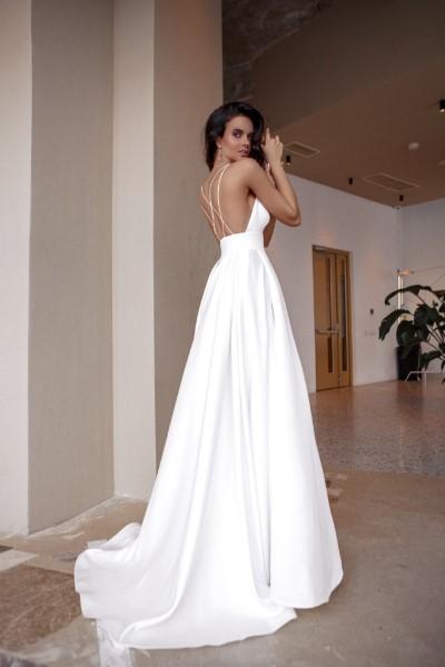 Свадебное платье Ким без накидки Натальи Романовой