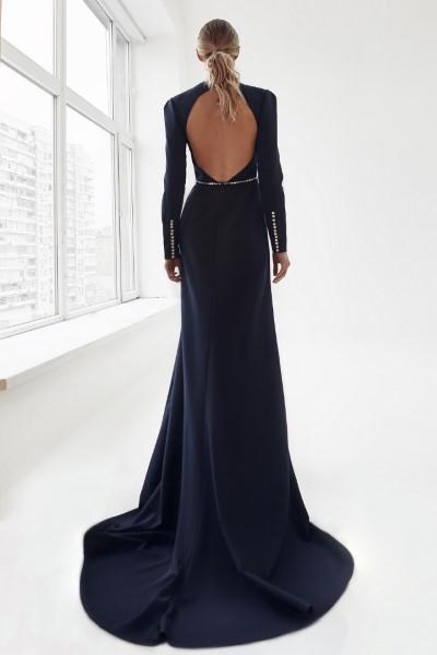Эффектное платье Голди синее