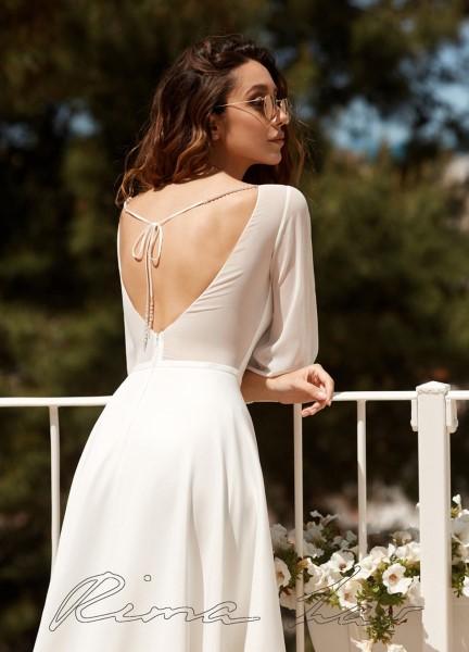 Лаконичное свадебное платье Грета