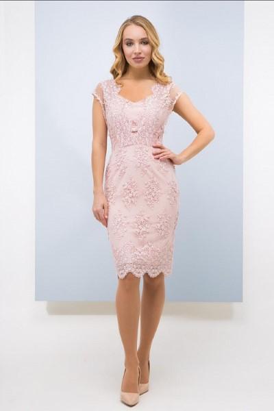 Элегантное короткое кружевное платье Озара