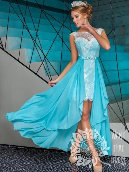 Коктейльное короткое вечернее платье беатрис тулианна (трансформер)