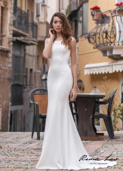 Прямое свадебное платье Тэрон