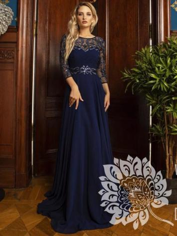 Вечернее платье Мирра с рукавами NEW