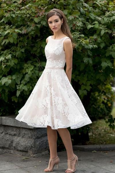 Свадебное платье с кружевным корсетом йоланда
