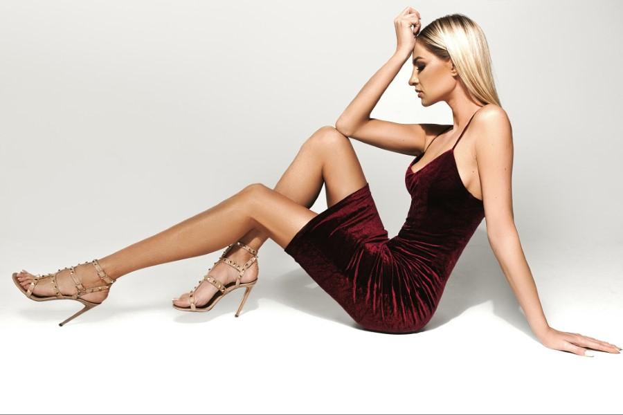 Коктейльное короткое вечернее платье eva lendel 06
