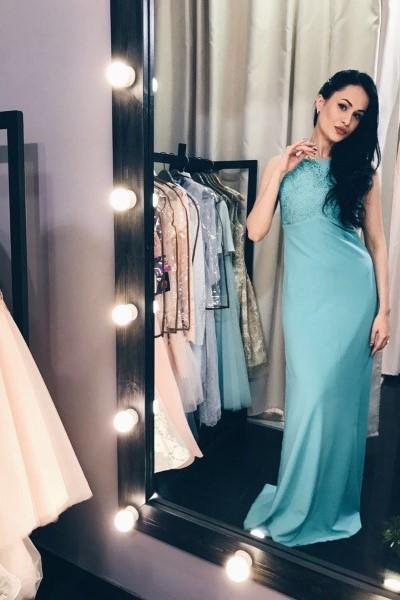 Платье на выпускной -  люси вечернее (бирюза)