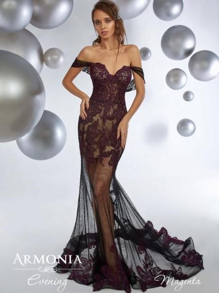 Коктейльное короткое вечернее платье magenta
