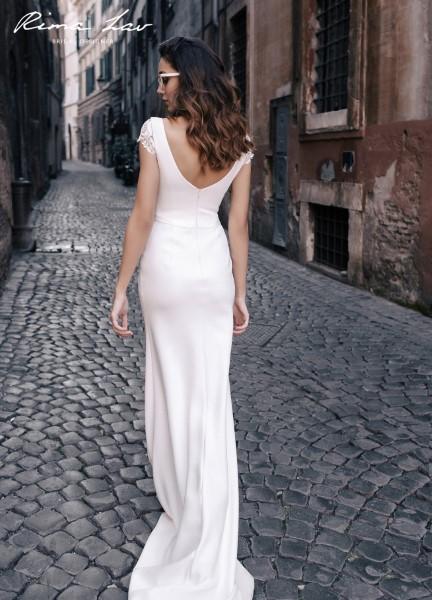 Свадебное платье с кружевным корсетом milva