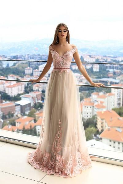 Длинное вечернее платье minkar pollardi