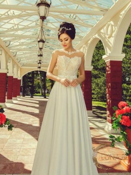 Свадебное платье с кружевным корсетом колетт