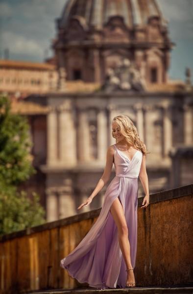 Платье на выпускной -  molly (пудра)