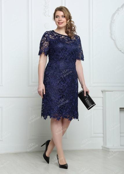 Коктейльное короткое вечернее платье nd164b
