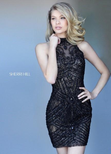 Коктейльное короткое вечернее платье sherri hill 11593