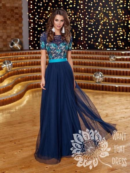 Платье на выпускной -  сиенна