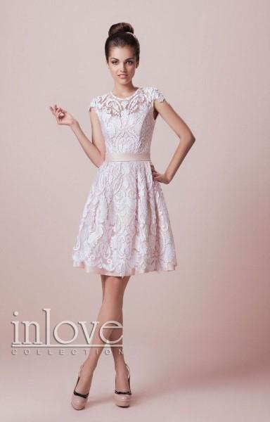 Короткое свадебное платье сиси