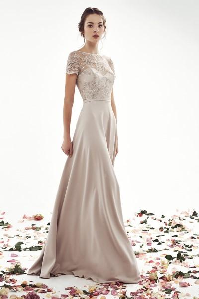 Свадебное платье с кружевным корсетом дженифер (пепел+морская волна)