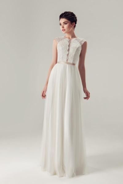 Свадебное платье с кружевным корсетом медисон