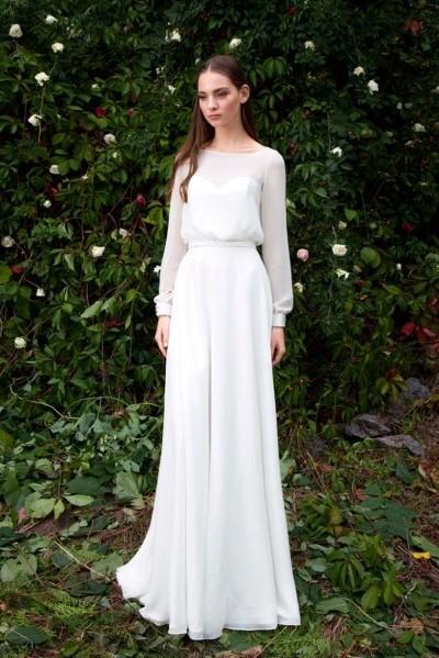 Свадебное платье с рукавами вивиан