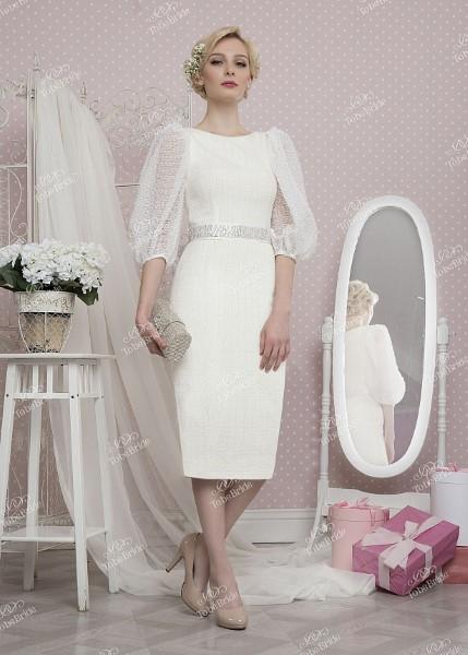 Свадебное платье с рукавами tb031
