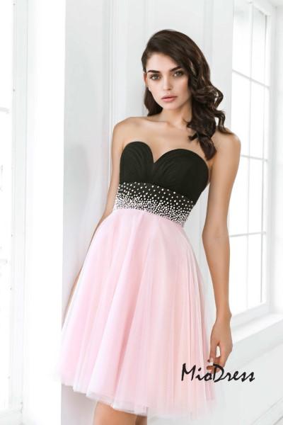 Платье на выпускной -  барбарис короткое