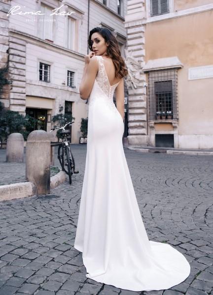 Прямое свадебное платье, спинка