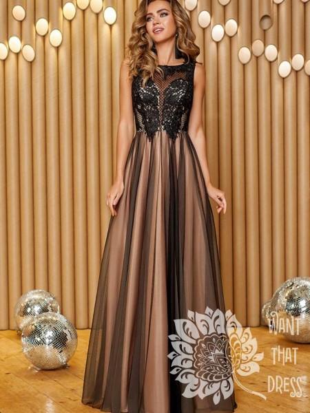 Длинное вечернее платье зои