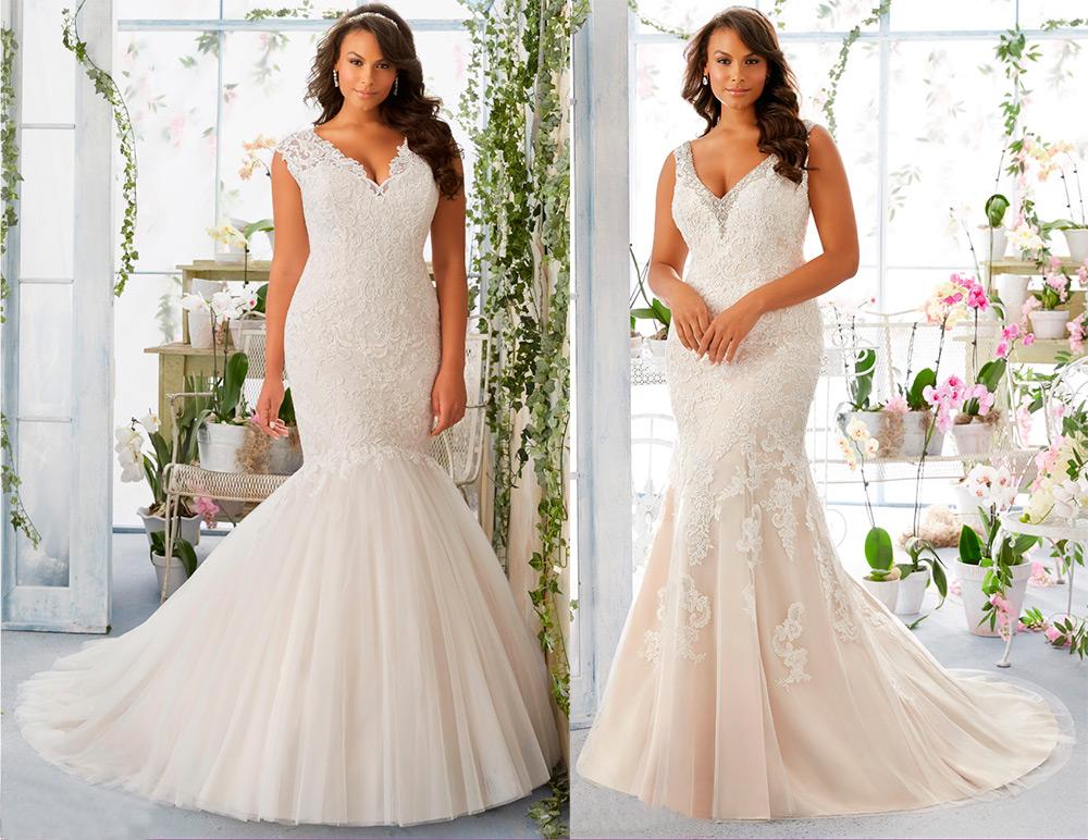 502fcb4b350 Романтичное свадебное платье «Русалка» следует примерить тем